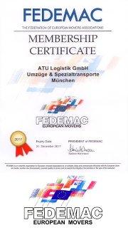 FEDEMAC Zertifikat 2017